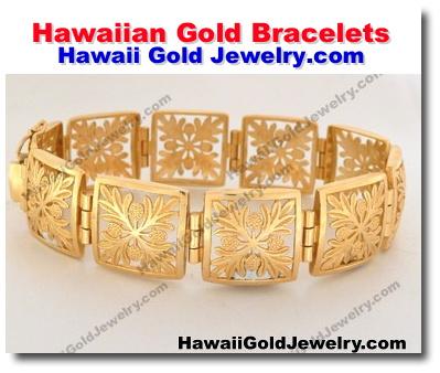 9427d7455bb98 Hawaiian Gold Bracelets - Hawaii Gold Jewelry - Hawaiian Gold Jewelry