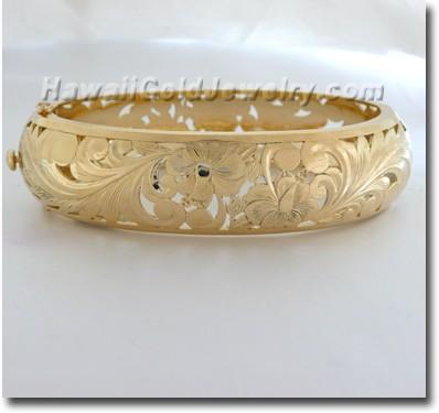 Hawaiian Bangle - Hawaii Gold Jewelry