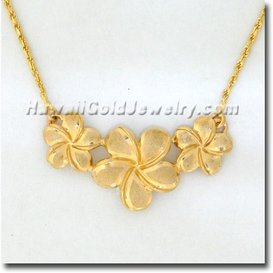 Hawaiian Flower Necklace - Hawaii Gold Jewelry