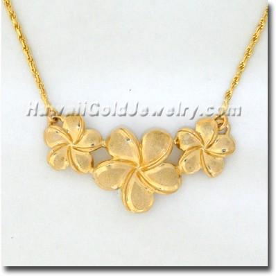 Hawaiian Flower Necklace - Hawaii Gold Jewelry