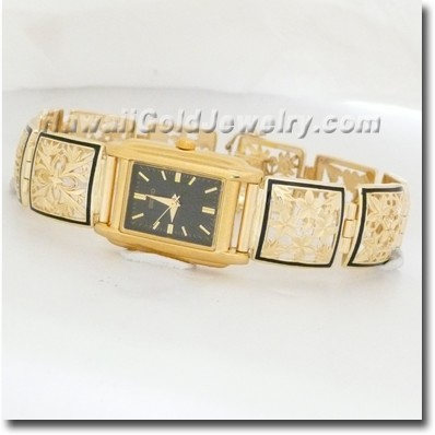 Hawaiian Link Bracelet Watch - Hawaii Gold Jewelry