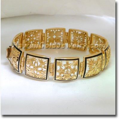 Hawaiian Multi Quilt Bracelet - Hawaii Gold Jewelry