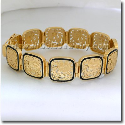 Hawaiian Puanani Link Bracelet - Hawaii Gold Jewelry