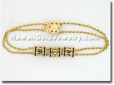 Hawaiian Slider Bracelet - Hawaii Gold Jewelry