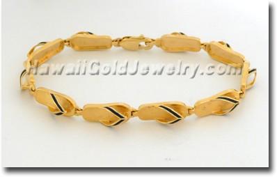 Hawaiian Slipper Link Bracelet - Hawaii Gold Jewelry