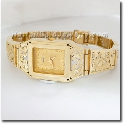 Hawaiian Tapered Link Watch - Hawaii Gold Jewelry