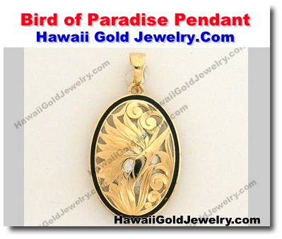 Hawaiian bird of paradise pendant hawaii gold jewelry hawaiian applicable shipping rates and taxes are calculated upon check out aloadofball Images