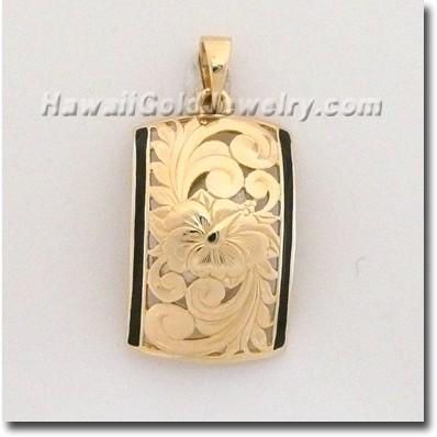 Hawaiian Dome Pendant - Hawaii Gold Jewelry