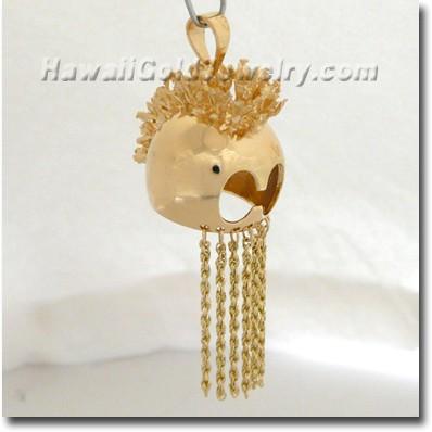 Hawaiian Helmet Pendant - Hawaii Gold Jewelry