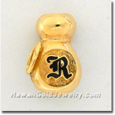 Hawaiian Ipu Pendant - Hawaii Gold Jewelry