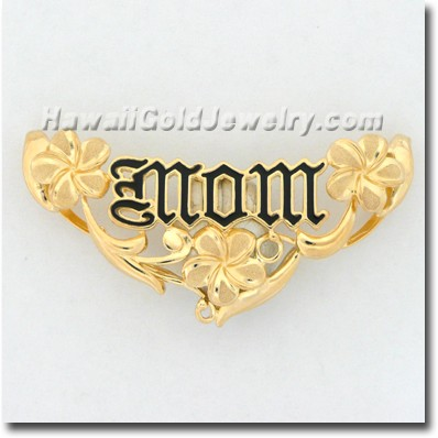 Hawaiian Mom Plumeria Slide - Hawaii Gold Jewelry