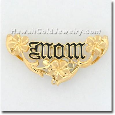Hawaiian Mom Plumeria Slide - Hawaii Gold Jewelry