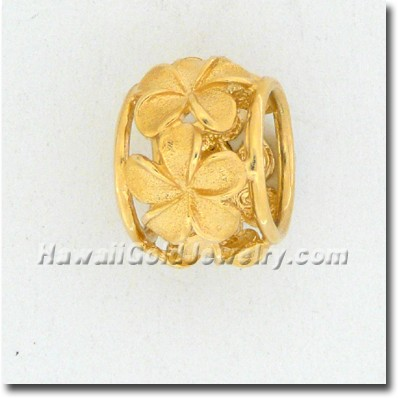 Hawaiian Plumeria Spinner - Hawaii Gold Jewelry