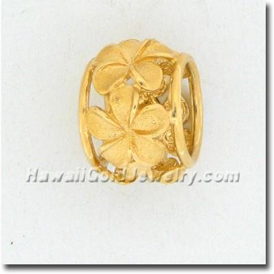 Hawaiian Plumeria Spinner - Hawaii Gold Jewelry