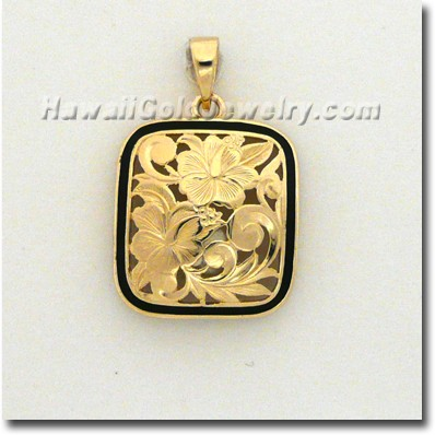Hawaiian Puanani Pendant - Hawaii Gold Jewelry