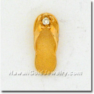 Hawaiian Slipper Pendant - Hawaii Gold Jewelry