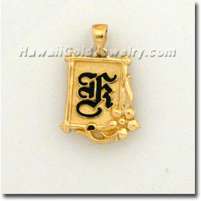 Hawaiian Wood Frame Pendant - Hawaii Gold Jewelry