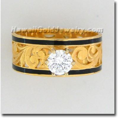 Hawaiian Cut-Out Ring - Hawaii Gold Jewelry