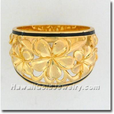 Hawaiian Flower Ring - Hawaii Gold Jewelry