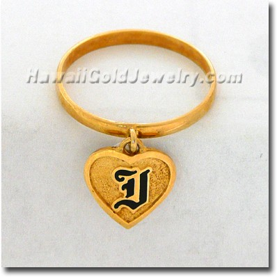 Hawaiian Friendship Heart Ring - Hawaii Gold Jewelry