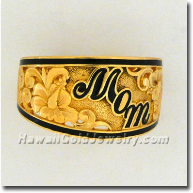 Hawaiian Mom Ring - Hawaii Gold Jewelry