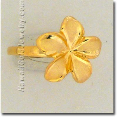 Hawaiian Plumeria Ring - Hawaii Gold Jewelry