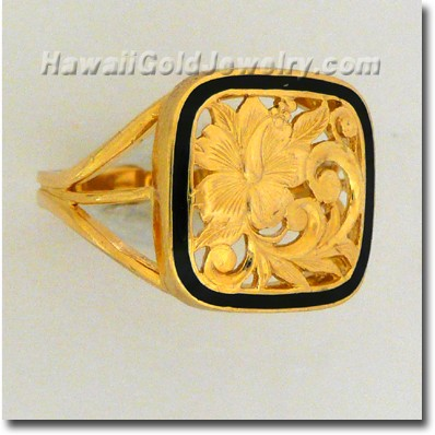 Hawaiian Puanani Ring - Hawaii Gold Jewelry