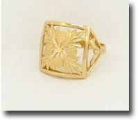 Hawaiian Ulu Quilt Ring - Hawaii Gold Jewelry