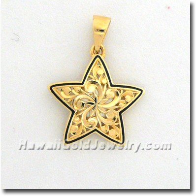 Hawaiian Hoku Pendant - Hawaii Gold Jewelry
