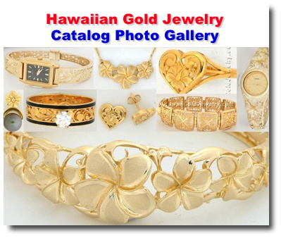 Hawaiian Gold Jewelry Pendants Earrings Bracelets Rings