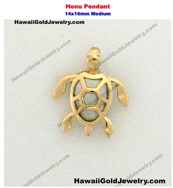 Hawaiian honu pendant 14x16mm medium hawaiian gold jewelry hawaiian gold pendants product categories aloadofball Image collections