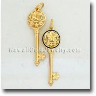Key Plumeria Pendant ペンダント - ハ&#1