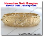 Hawaiian Gold Bangles - Hawaii Gold Jewelry