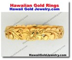 Hawaiian Gold Rings - Hawaii Gold Jewelry