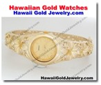 Hawaiian Gold Watches - Hawaii Gold Jewelry