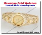 Hawaiian Gold Watches - Hawaii Gold Jewelry